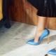 Sapatos de Salto Alto Azul