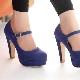 Sapatos de plataforma azul