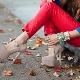 Sapatos de dedo do pé redondo
