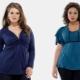 Blusas de padrões para mulheres obesas