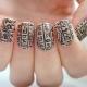 Ideeën voor het maken van manicure met hiërogliefen