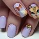 Ideeën ongewone ontwerp manicure met een vos