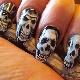 Mooie opties voor manicureontwerp met schedels