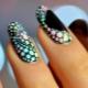 Manicure met cirkels: ontwerpideeën en decoratievoorbeelden