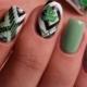 Manicure met bladeren: ontwerp functies en ideeën