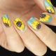 Manicure met zonnebloemen: populaire technieken en stijlvolle ideeën