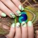 Manicure met vogels: voorbeelden van design en modetrends