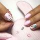 Modetrends en ontwerpideeën voor een manicure met een konijn