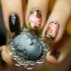 Originele ontwerpopties manicure met pioenrozen
