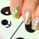 Manicure ontwerpopties met panda