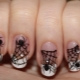 Varianten van stijlvol manicureontwerp met spin