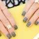Nail design med grå gel polish