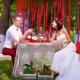 Ötletek díszítéshez és esküvő megtartásához a természetben