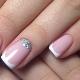 Ideeën ontwerpen zachte manicure met glitters