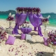 Interesting ideas for decorating the wedding in lilac color