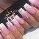 Manicure voor lange vierkante nagels