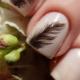 Manicure met een veer: stijlvolle ontwerpopties en beschrijving van de nagelontwerptechniek