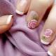 Ongebruikelijke Franse manicure met bloemen