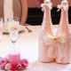 Decoration of bottles for a wedding: ways and interesting examples