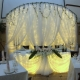 Menyasszony és a vőlegény esküvői asztal dekoráció