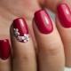 Red Manicure-ideeën voor korte nagels
