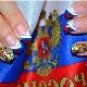 Interessante ideeënmanicure met vlaggen van verschillende landen