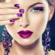 The best ideas purple manicure for short nails