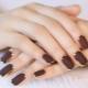 Variants of dark manicure for short nails
