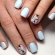 Ideas manicure geometry for short nails
