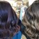 Dyeing shimmer on dark hair
