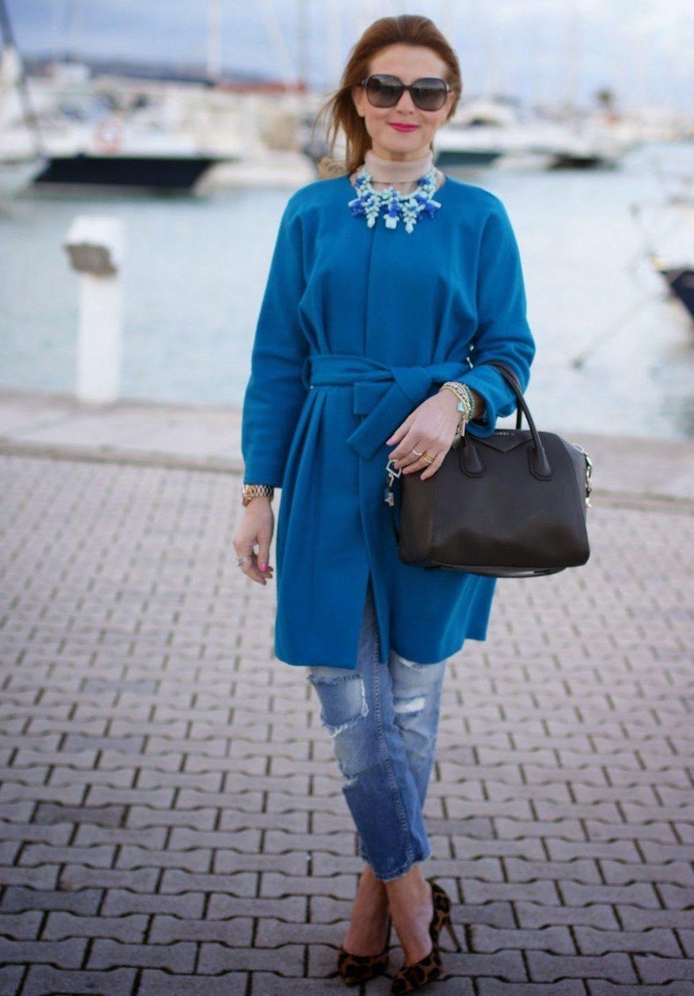 Turquoise Coat 35 Photos Mantel Wanita Bergaya Warna Pirus Gelap Dengan Apa Yang Digabungkan Turquoise