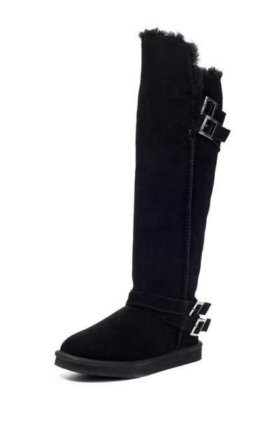 eefa9b4ff Z takýchto výrobkov by mali odmietnuť plnohodnotné dámy.Hrubé topánky z  ovčej kože budú vaše nohy väčšie a menej elegantné.