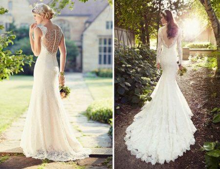 Esküvői ruha nyitva