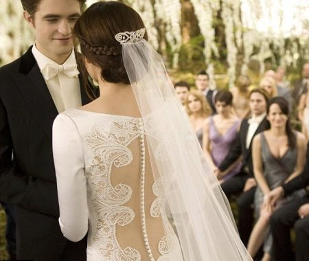 Esküvői ruha csipke a hátsó