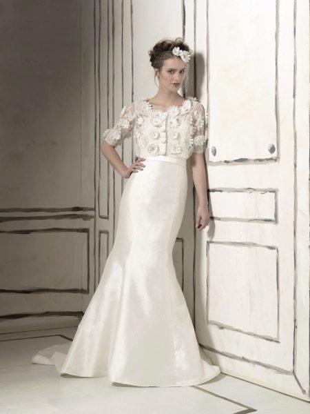 Esküvői ruha a crepe de Chine-től