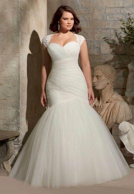 Vestit de núvia d'estil sirena per complet