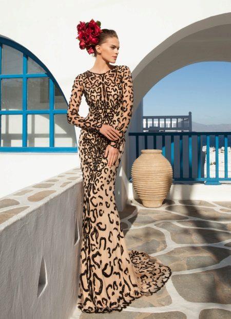 Esti ruha meztelen testhatású tigris