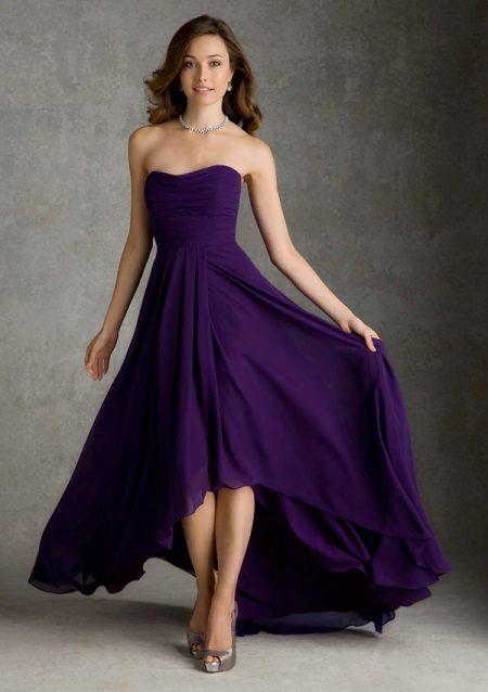 Boty pod fialové večerní šaty