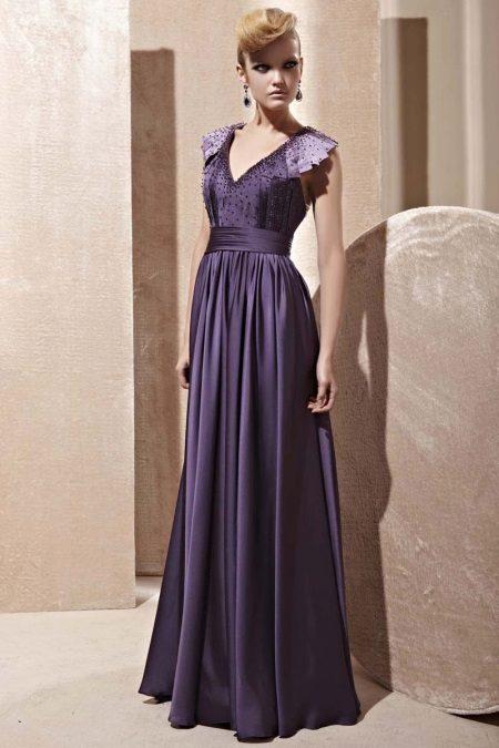 Lilek fialové šaty