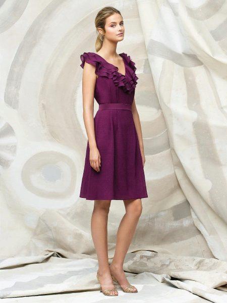 Purple Red Dress
