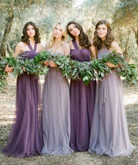 Lavender Dresses - Bridesmaids