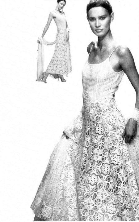 Horgolt kötött esküvői ruha a magazinból