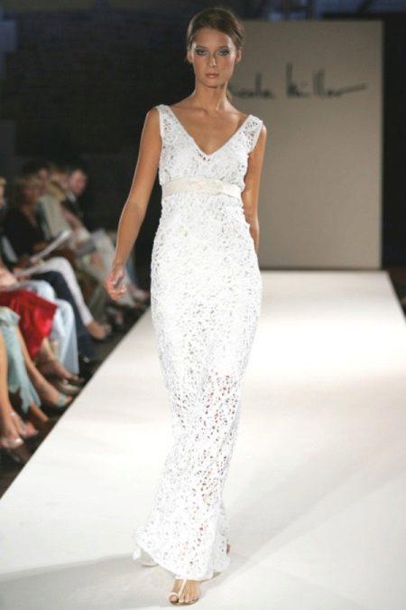 Horgolt kötött esküvői ruha tervező