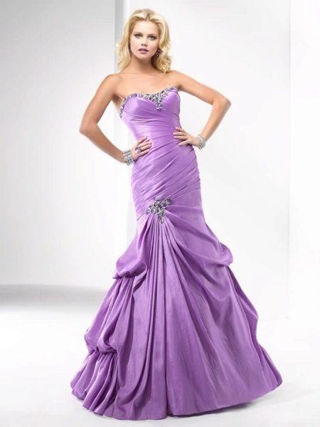 Večer fialové šaty mořská panna