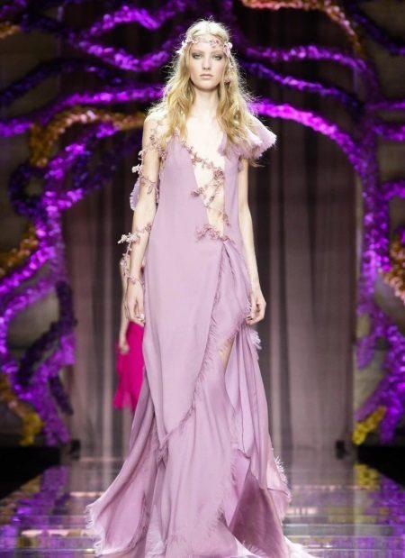 Večer fialové šaty sexy