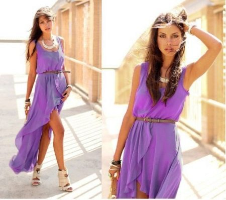 Příslušenství pro lila večerní šaty