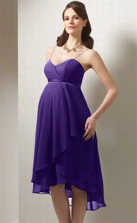 Lilac maternity evening dress