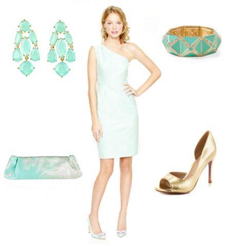 Kuva - Minttu-värinen mekko