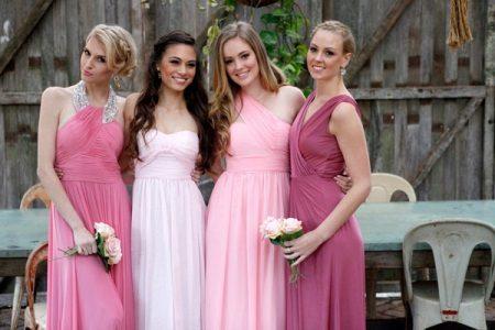 Mekot eri sävyjä vaaleanpunainen bridesmaids