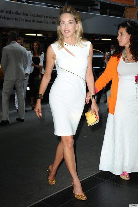 Vestido de noite branco para mulheres de 50 anos - Meryl Streep